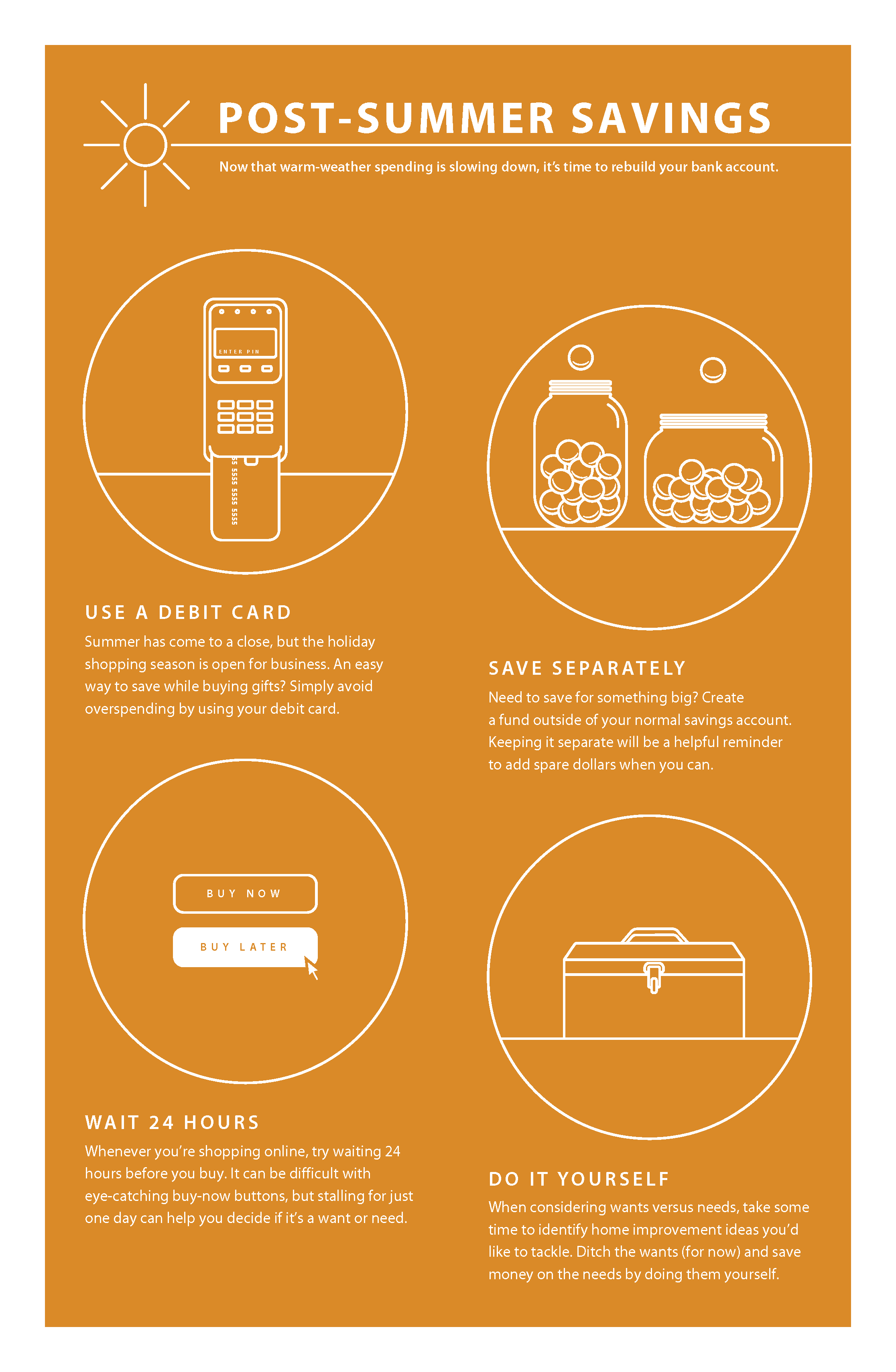 Post Summer Savings Infographic