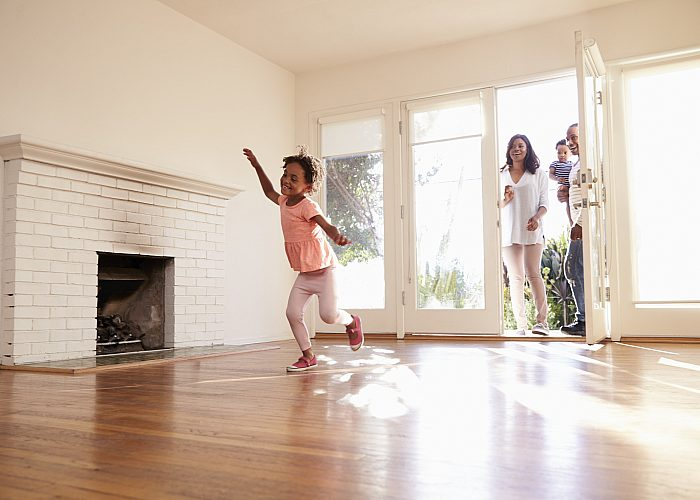 Girl Running Through Empty House