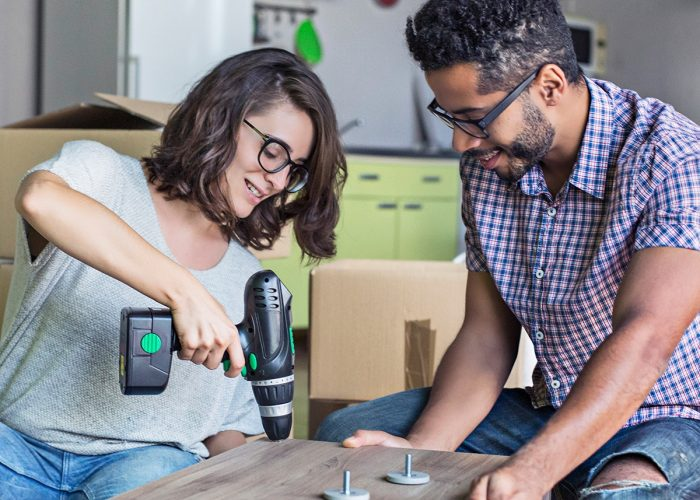Man and Woman with Home Tools