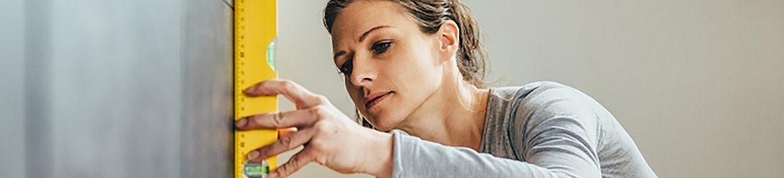 Woman Measuring